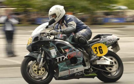 Paul Blezard riding the  ThunderSprint